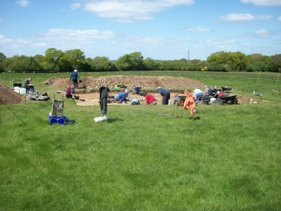 Archaeological dig at Colemore, 2015